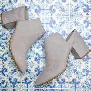 NEW Express faux suede backless booties